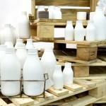 Garrafas de leite na ParalelaGift